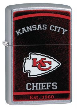 Zippo - NFL Kansas City Chiefs Design Lighter Front Side Closed ANgled