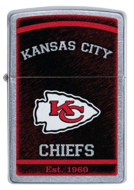 Zippo - NFL Kansas City Chiefs Design Lighter Front Side Closed