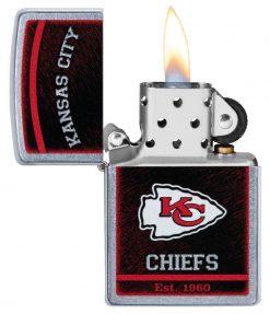 Zippo - NFL Kansas City Chiefs Design Lighter Front Side Open