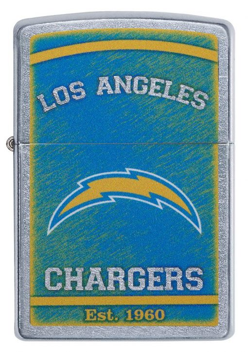 Zippo - NFL Los Angeles Chargers Design Lighter Front Side Closed