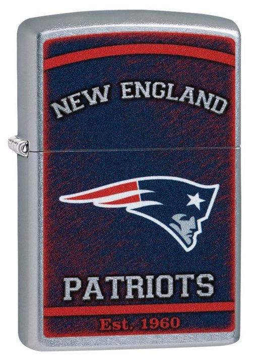 Zippo - NFL New England Patriots Design Lighter Front Side Closed Angled