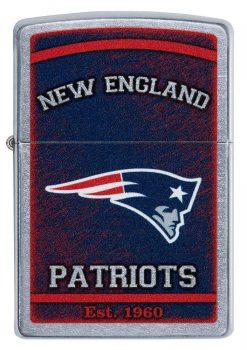 Zippo - NFL New England Patriots Design Lighter Front Side Closed