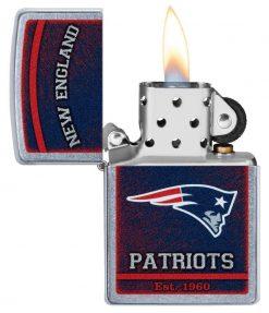 Zippo - NFL New England Patriots Design Lighter Front Side Open