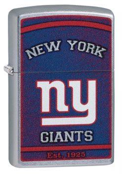 Zippo - NFL New York Giants Design Lighter Front Side Closed Angled