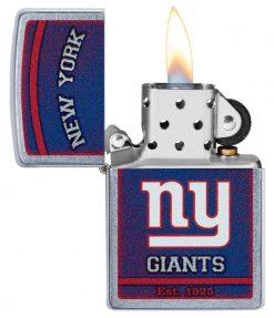 Zippo - NFL New York Giants Design Lighter Front Side Open