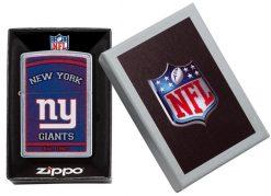 Zippo - NFL New York Giants Design Lighter Front Side Closed in Box