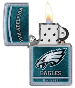 Zippo - NFL Philadelphia Eagles Design Lighter Front Side Open