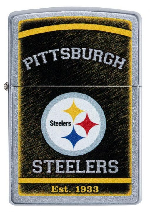Zippo - NFL Pittsburgh Steelers Design Lighter Front Side Closed