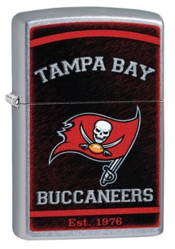 Zippo - NFL Tampa Bay Buccaneers Design Lighter Front Side Closed Angled
