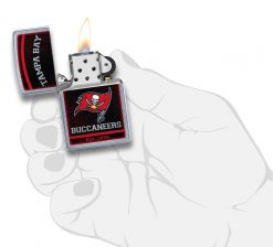 Zippo - NFL Tampa Bay Buccaneers Design Lighter Front Side Open With Hand Graphic