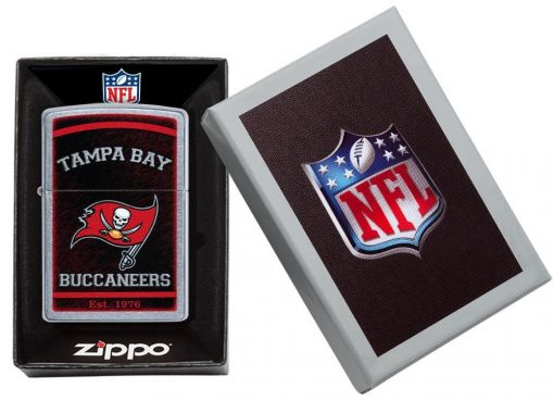 Zippo - NFL Tampa Bay Buccaneers Design Lighter Front Side Closed in Box