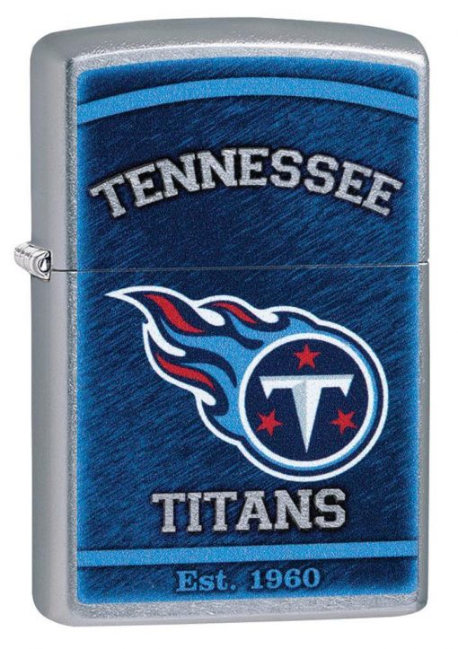 Zippo - NFL Tennessee Titans Design Lighter Front Side Closed Angled