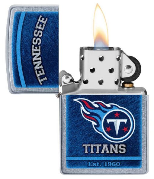 Zippo - NFL Tennessee Titans Design Lighter Front Side Open