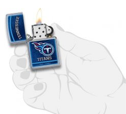 Zippo - NFL Tennessee Titans Design Lighter Front Side Open With Hand Graphic