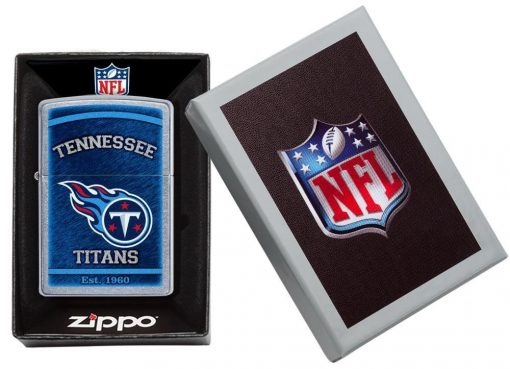 Zippo - NFL Tennessee Titans Design Lighter Front Side Closed in Box