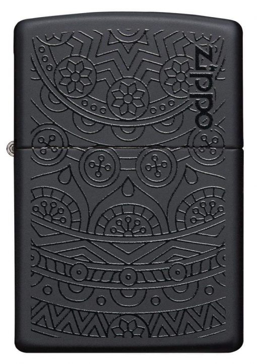 Zippo - Tone on Tone Design Lighter Front Side Closed