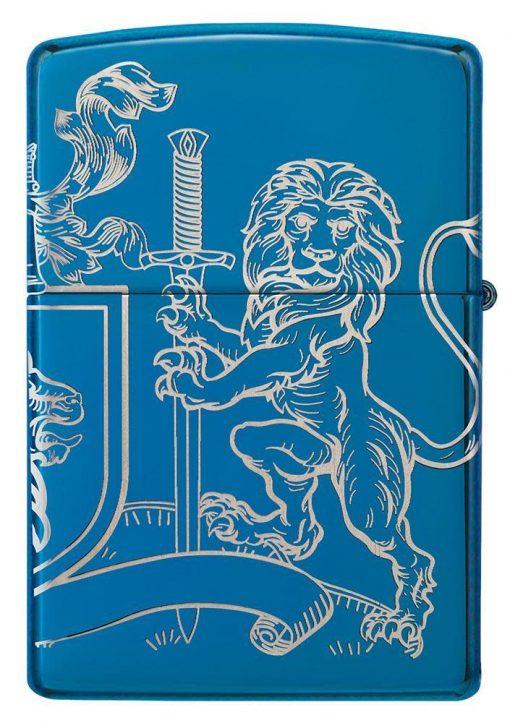 Zippo - Medieval Coat of Arms Design Lighter Back Side Closed