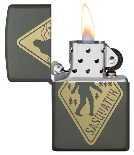 Zippo - Sasquatch Design Lighter Front Side Open