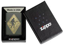 Zippo - Sasquatch Design Lighter Front Side Closed in Box
