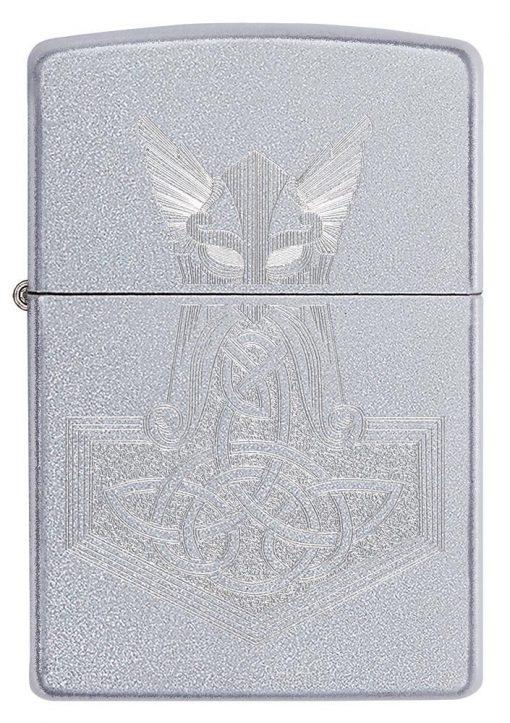 Zippo - Hammer of Thor Design Lighter Front Side Closed