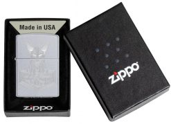 Zippo - Hammer of Thor Design Lighter Front Side Closed in Box