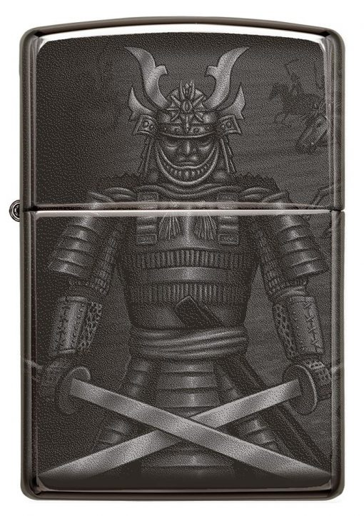 Zippo - Knight Fight Design Lighter Front Side Closed