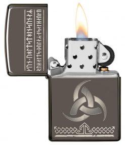 Zippo - Odin Design Lighter Front Side Open