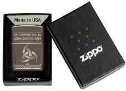 Zippo - Odin Design Lighter Front Side Closed In Box
