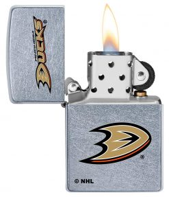 Zippo - Anaheim Ducks Design Lighter Front Side Open