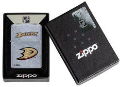 Zippo - Anaheim Ducks Design Lighter Front Side Closed In Box