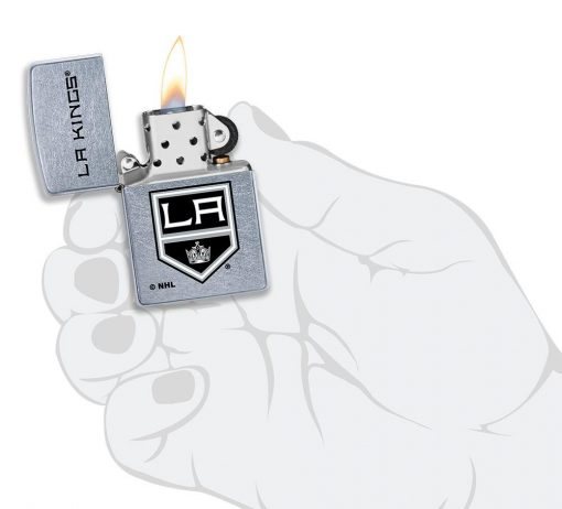 Zippo - LA Kings Design Lighter Front Side Open With Hand Graphic