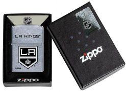 Zippo - LA Kings Design Lighter Front Side Closed in Box