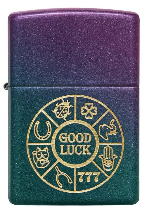 Zippo - Lucky Symbols Design Lighter Front Side Closed