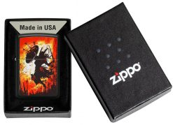 Zippo - Warrior Lighter Front Side Open