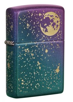 Zippo - Starry Sky Lighter Front Side Closed Angled