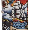 Zippo - Nautical Tattoo Design Lighter Front Side Closed Angled