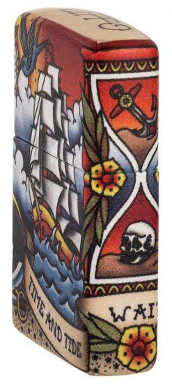 Zippo - Nautical Tattoo Design Lighter Side Profile