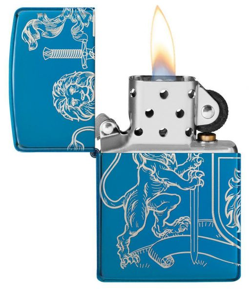 Zippo - Medieval Coat of Arms Design Lighter Front Side Open