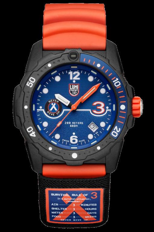 Luminox Bear Grylls Survival SEA Rule of 3 Limited Edition Black/Orange Front Side
