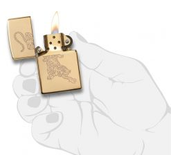 Zippo - Tiger Lighter Front Side Open With Hand Graphic
