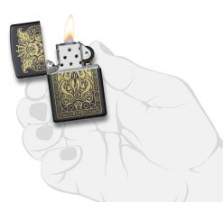 Zippo - Monster Design Lighter Front Side Open With Hand Graphic