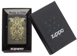 Zippo - Monster Design Lighter Front Side Closed in Box