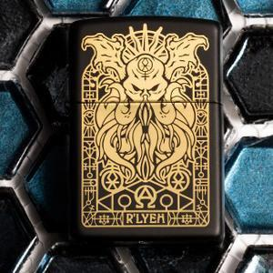 Zippo - Monster Design Lighter Front Side Closed With Background