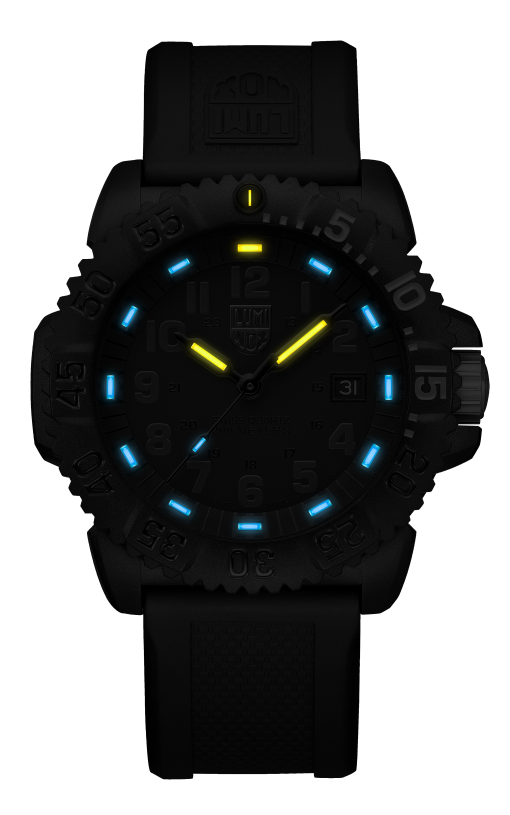 Luminox Original Navy SEAL Colormark 3051.GO.NSF Black/Black Front Side Center Night