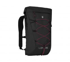 Victorinox - Altmont Active Lightweight Rolltop Backpack - Black Front Side Angled Right
