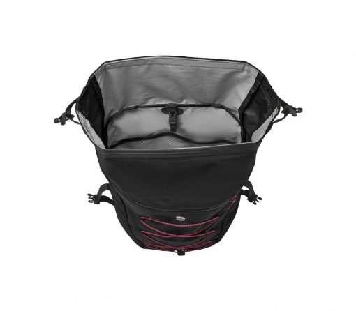 Victorinox - Altmont Active Lightweight Rolltop Backpack - Black Front Side Open