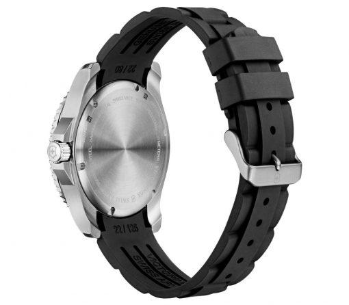 Victorinox - Maverick Large - Black Rubber Strap Back Side Angled Left