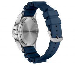 Victorinox - I.N.O.X. Professional Diver - Blue Rubber Strap Back Side Angled Left
