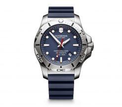 Victorinox - I.N.O.X. Professional Diver - Blue Rubber Strap Front Side Center