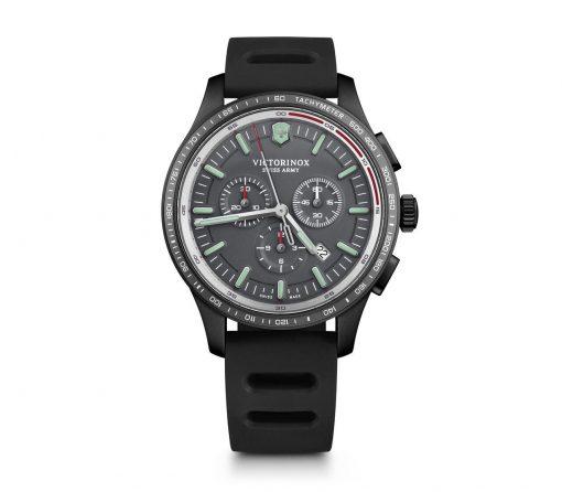 Victorinox - Alliance Sport Chronograph - Black Rubber Strap Front Side Center